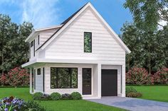 Modern 3-Bed Cottage with Upstairs Laundry - 31192D | Architectural Designs - House Plans