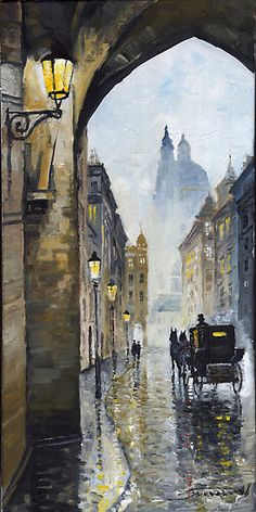 Prague Old Street 01 by Yuriy Shevchuk
