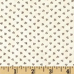 Penny Rose 19th Century Shirtings Petals Black from @fabricdotcom  Designed by Erin Turner for Penny Rose, this cotton print is perfect for quilting, apparel and home decor accents. Colors include black and cream.