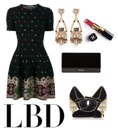 """""""Untitled #81"""" by florenceylf ❤ liked on Polyvore featuring Alexander McQueen, Anton Heunis, Dolce&Gabbana, Balmain and Chanel"""