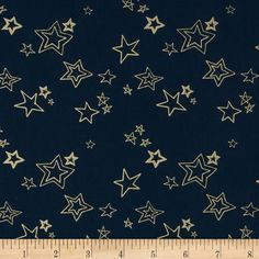 Art Gallery Wild & Free Midnight Roof Metallic from @fabricdotcom  From Art Gallery Fabric, this cotton print is perfect for quilting, apparel and home decor accents. Art Gallery Fabric features 200 thread count of finely woven cotton. Colors include navy and metallic gold.