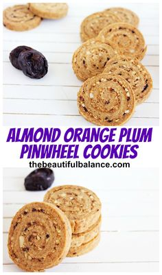 HALF the fat and sugar of a normal cookie and all made possible by a SECRET ingredient!  Vegan, low fat, low calorie, easy to make, and super delicious! Almond Orange Plum Pinwheel Cookies via The Beautiful Balance