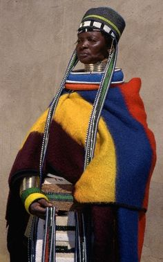 Assembled beauties: The taste of Petrol and Porcelain | Interior design, Vintage Sets and Unique Pieces www.petrolandporcelain.com  Ndebele Woman, South Africa