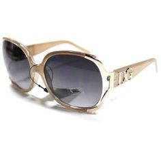 DG Sunglasses : Oversized Vintage Style Frame Women's Sunglasses With or Without Case / Celebrity Shades