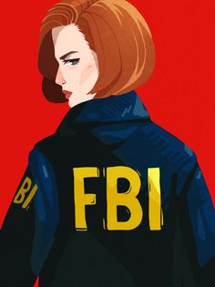 "alexiadraws: ""honestly the best part of fight the future is the cool FBI windbreakers that mulder and scully wear.. """