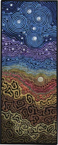 Beneath the Southern Sky — What a stunning quilt, by Australian artist Helen Godden.  In love with this...