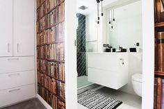 The Block Sky High   Week 4 Guest bedroom reveals Bec & George - angled black tiles