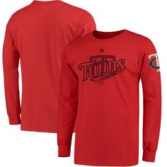 Minnesota Twins Majestic Big & Tall Two Hit Long Sleeve T-Shirt - Red