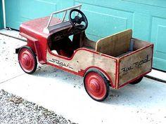 """Vintage Pedal Car """"Jeep"""""""