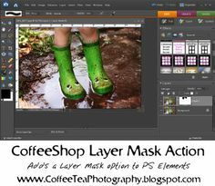 CoffeeShop Layer Mask action for Photoshop Elements