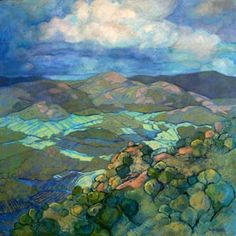 Karin Daymond documents the South African landscape where she lives. Her paintings contain patterns, rhythm and color. They are a beautiful record of how she views the changing landscape and environment. Abstract Landscape, Landscape Paintings, Oil Paintings, South African Artists, Art Pictures, Art Inspo, Amazing Art, Watercolor Art, Art Photography