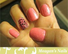 Pink Cheetah Accent Nails! GREAT nail blog w/ TUTORIALS on how to do your own nails! :)