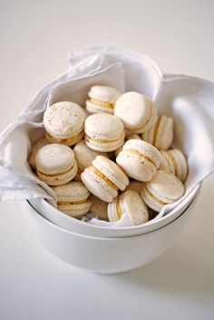Eggnog Macarons