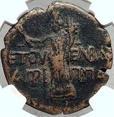 DOMITIAN & Herod Agrippa II JUDAEA Caesarea Panaeas Ancient Roman Coin i68756