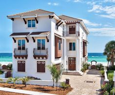 beach house We picked five great Florida beach towns and found a splurge-worthy and budget-friendly vacation rental in each. Spring break, here we come! Florida House Plans, Beach House Plans, Beach House Decor, Florida Houses, Beach Condo, Florida Springs, Destin Florida, Vacation Homes In Florida, Vacation Spots