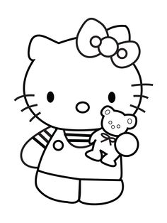 Kleurplaten Schattige Dieren 8 Jarige Free Printable Hello Kitty Coloring Pages For Kids