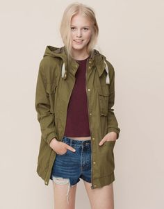 Pull&Bear - woman - new products - leather safari - khaki - 09752313-I2015