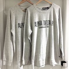Enter Our Freebie Friday on Facebook for a chance to win 2 of these Alpha Delta Pi Poodle Sweatshirts! Giveaway closes 12/12/16 at 11:59pm PST