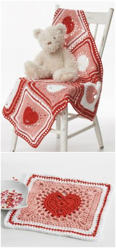we have round up these  Free Crochet Patterns for Valentine's Day that are sure to make the best Crochet Valentine's Day Gifts for the day!Cream Heart Dishcloth Blanket
