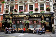 The Sherlock Holmes pub, London, UK. Photograph by Alison Wright
