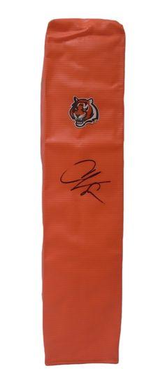Chad Johnson Autographed Cincinnati Bengals Full Size Football End Zone Touchdown Pylon, Proof