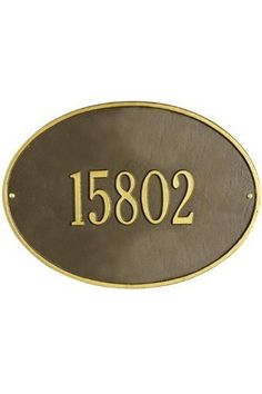 Hawthorne One-Line Estate Wall Address Plaque - estate/one line, Copper by Home Decorators Collection. $88.99. Hawthorne One-Line Estate Wall Address Plaque - This Premium, Textured And Dimensional Wall Address Plaque Is Designed With Large Numbers For Maximum Visibility Outdoors. The Estate-Size Hawthorne Design Features A Sophisticated Oval Shape.Our Outdoor House Marker Is Built To Withstand The Elements. It Is Individually Handcrafted Of Hand-Cast Aluminum With ...