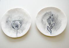 sketchy Porcelain Plates
