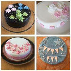 Cake decoration with girls. Testing different styles. Cakes from MuM, Noora, Vanessa ja Elina. 24.4.2017