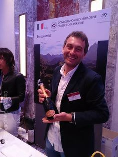 Smiles all around as we enjoy tasting #Prosecco at the London Italian Wine Event 2014.