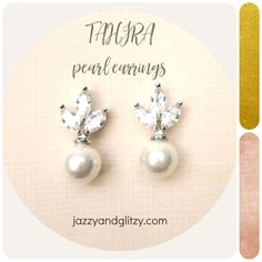 Our Tahira pearl earrings draw inspiration from the natural beauty of the majestic. AAA grade Cubic Zirconias set on the leaf patterns post to sparkle with the timeless pearls in 8mm.