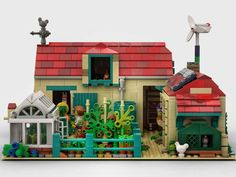 LEGO IDEAS - A Nice Day at the Farm Rain Water Collector, Lego Moc, Lego Ideas, Mansions, Fishing Boats, Nice, Solar Panels, House Styles, Good Day