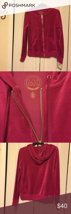 Michael Kors Velour Pink Jacket Size Medium NWT NWT MK Jacket NWT Michael Kors Jackets & Coats