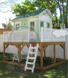 Manos a la obra on pinterest google green houses - Casas de madera infantiles ...