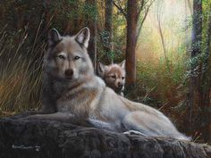 Trademark Fine Art 'Recumbent Wolves' Canvas Art by Kevin Daniel, Size: 35 x Black Wolf Canvas, Canvas Art, Canvas Size, Wolf Pictures, Wolf Photos, Fantasy Pictures, Wolf Artwork, Wolf Love, Beautiful Wolves