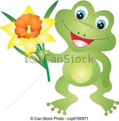 Vector Clip Art of Frog vector - Frog isolated ob white background ...