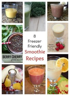 Get ready for back to school breakfasts and snacks with these 8 Freezer Friendly Smoothie Recipes | 5DollarDinners.com