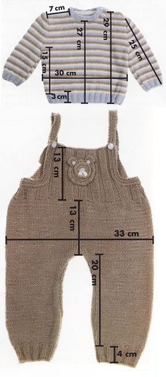 Baby Knitting Patterns Sweaters This Pin was discovered by Mar Knitting For Kids, Baby Knitting Patterns, Knitting Stitches, Baby Outfits, Kids Outfits, Baby Pants, Baby Sweaters, Baby Dress, Baby Jumpsuit