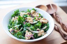 Kale and Roasted Cauliflower Salad with Tahini Dressing. Best salad ever!!!