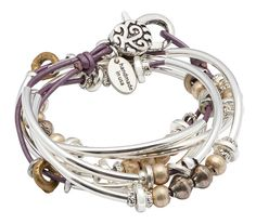 The Bella leather wrap braceletis yet another innovative design by Lizzy James that can be worn as a wrap bracelet or necklace. This artisan jewelry design is