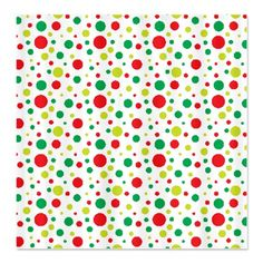 Red and Green Dot Pattern Shower Curtain