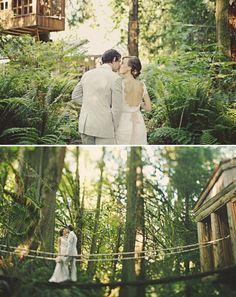 Simply amazing treetop wedding photo! #wedding