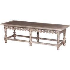 Aged French Chateau Coffee Table - Belle Escape