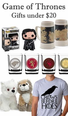 No matter your favorite family (Stark, Targaryen, Lannister, Baratheon, Greyjoy, or Tyrell), here are some of my favorite Game of Thrones gift ideas under $20.