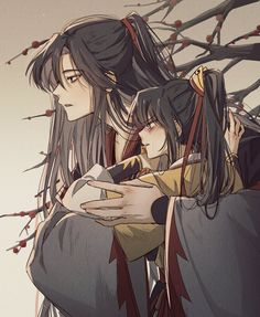 "낑깡 on Twitter: ""#MDZS #마도조사 #魔道祖师 그래서 널 괴롭힌 간 큰게 누구라고?… "" Manga Art, Anime Manga, Akira, Systems Art, Cute Family, The Grandmaster, Couple Pictures, Asian Art, Manhwa"