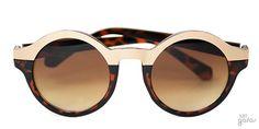 Óculos De Sol Redondo Meio A Meio || Ui! Gafas