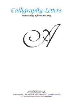 Calligraphy Lettering Elegant- love this to practice pinstripe-