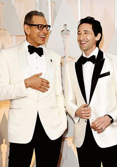 """The Grand Budapest Hotel"" castmates Jeff Goldblum and Adrien Brody #Oscars"