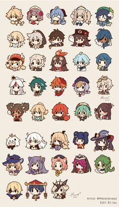 Animes Wallpapers, Cute Wallpapers, Anime Chibi, Anime Art, Estilo Anime, Cute Chibi, Albedo, Cute Stickers, Cute Drawings