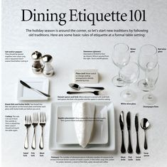 Etiquette and manners at a restaurant for a formal dinner or business luncheon: Tips for timing, reservations, arrivals, utensil use, toasting and tasting. Dinning Etiquette, Etiquette And Manners, Table Manners, Formal Dinner, Dinner Table, Good To Know, Just In Case, Helpful Hints, Life Hacks
