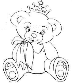 Ausmalbilder Teddy Fur Kinder Malvorlagen Bear Coloring Coloringpages